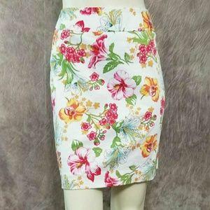 Rafaella Floral Pencil Skirt